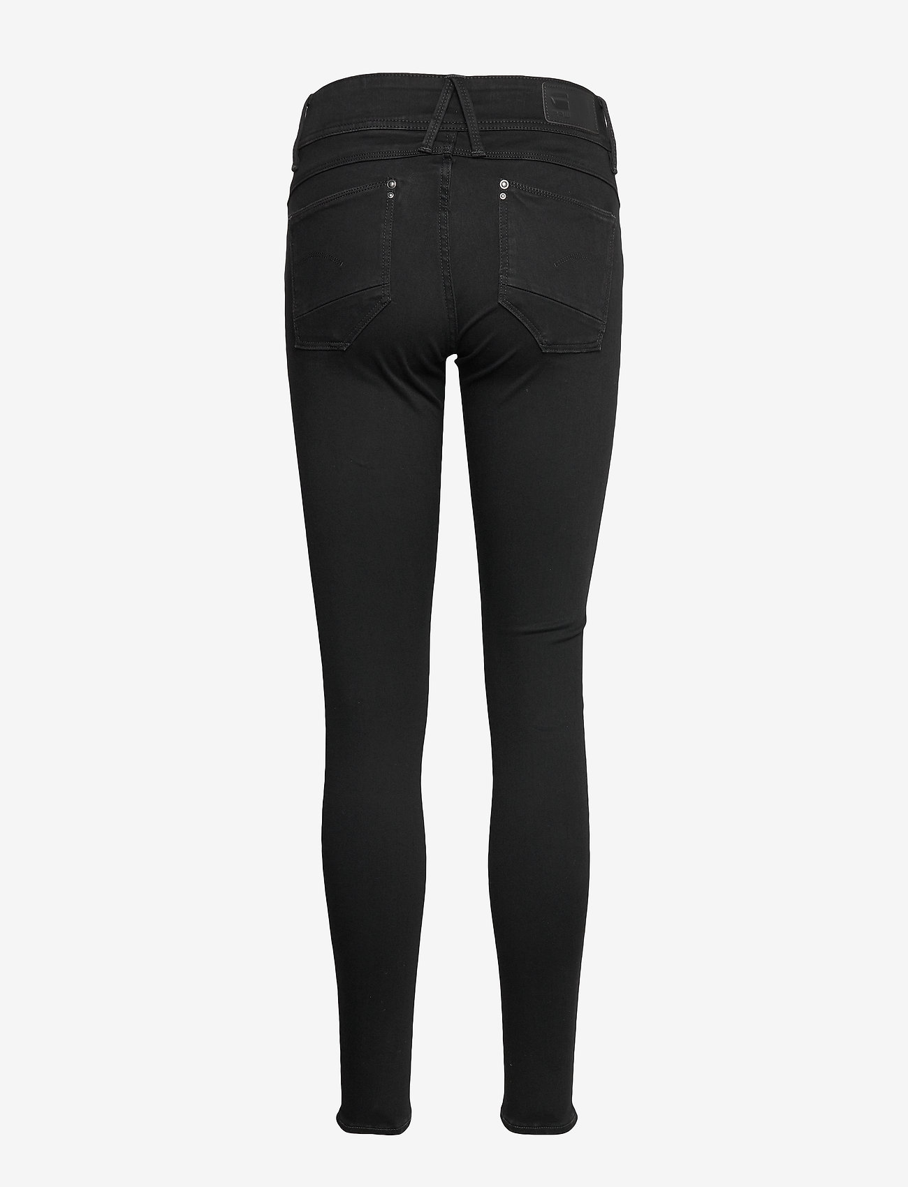G-star RAW - Lynn Mid Super Skinny Wmn - skinny jeans - pitch black - 1