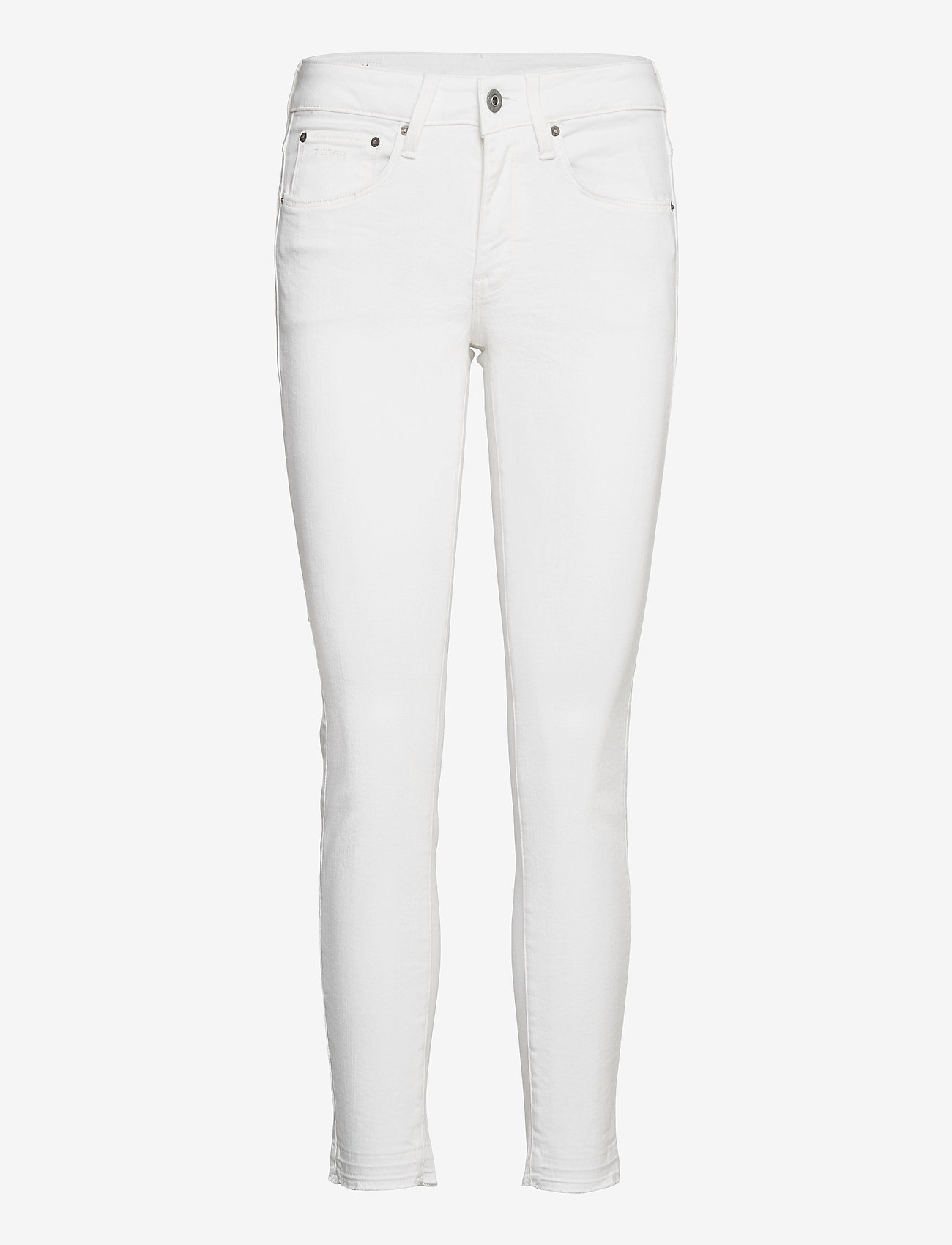 G-star RAW - 3301 Mid Skinny rp Ankle Wmn - skinny jeans - white - 0