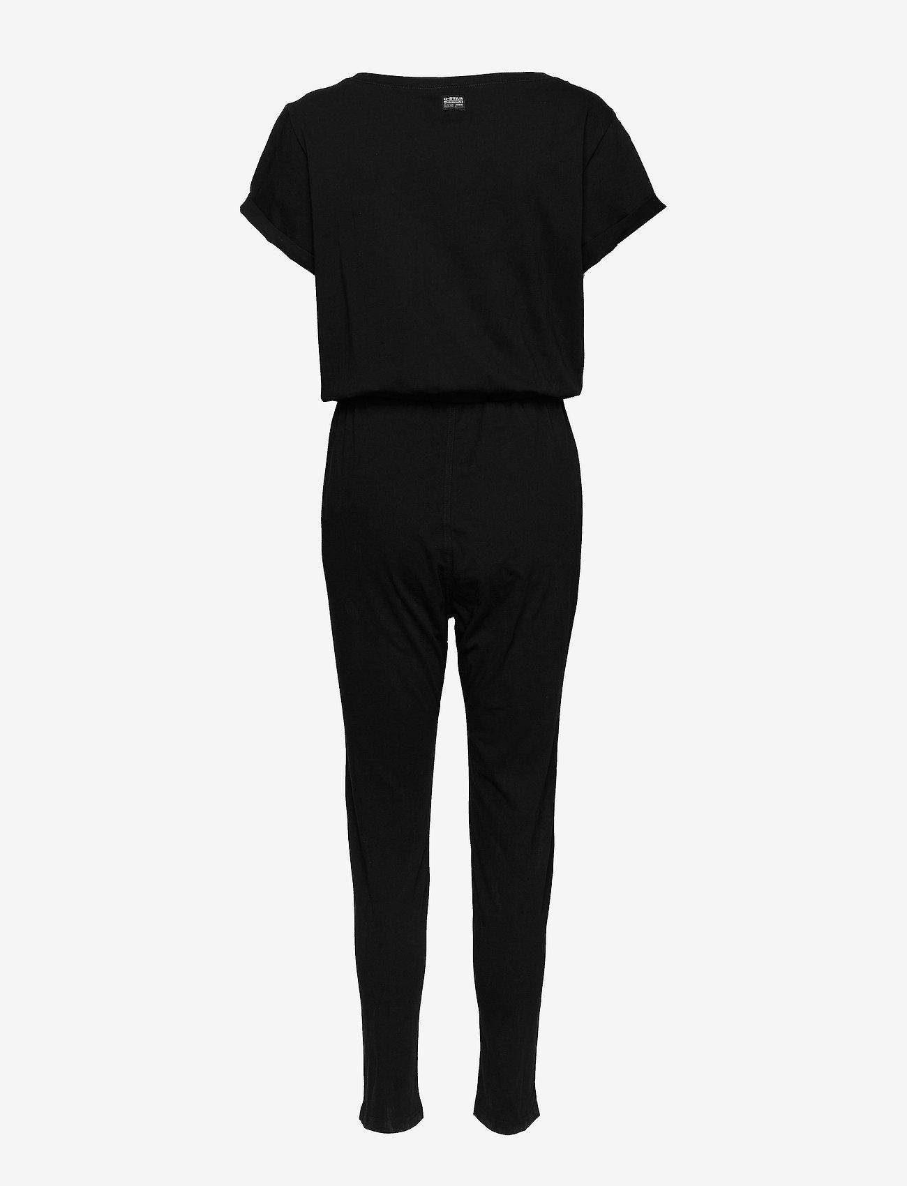 G-star RAW - Cocaux r suit wmn s\s - buksedragter - dk black - 1