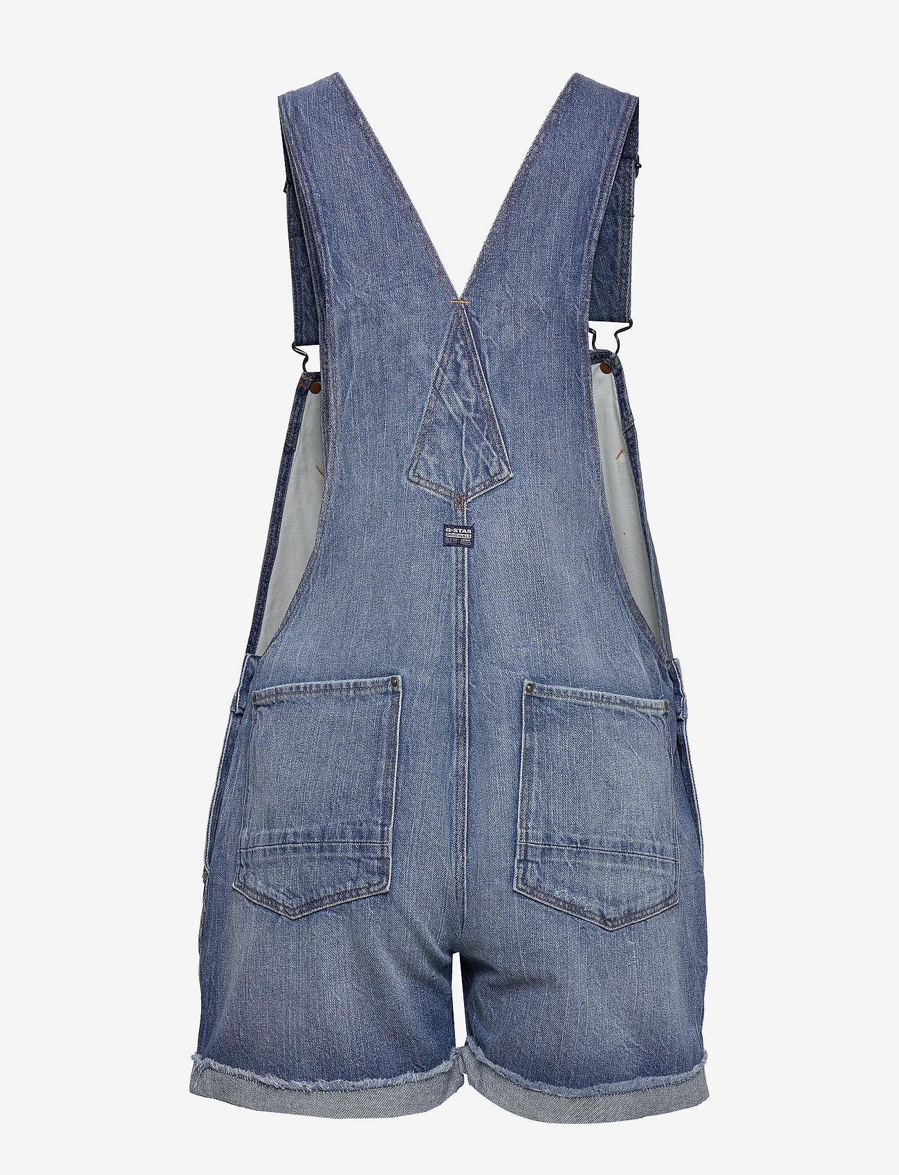 G-star RAW - Faeroes bf Short Overall rp tu Wmn - jumpsuits - faded ripped shore - 1
