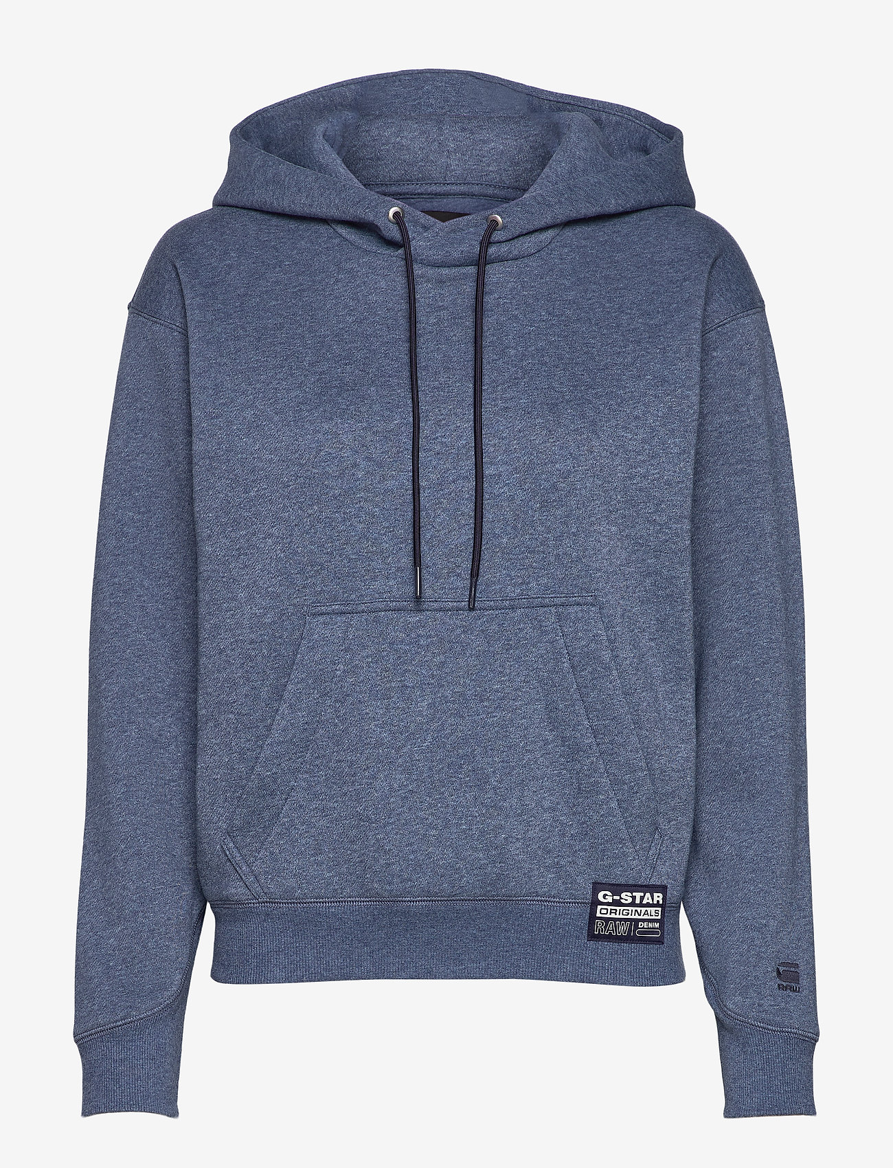 G-star RAW - Premium core hooded sw wmn l\s - hoodies - worn in kobalt htr - 0