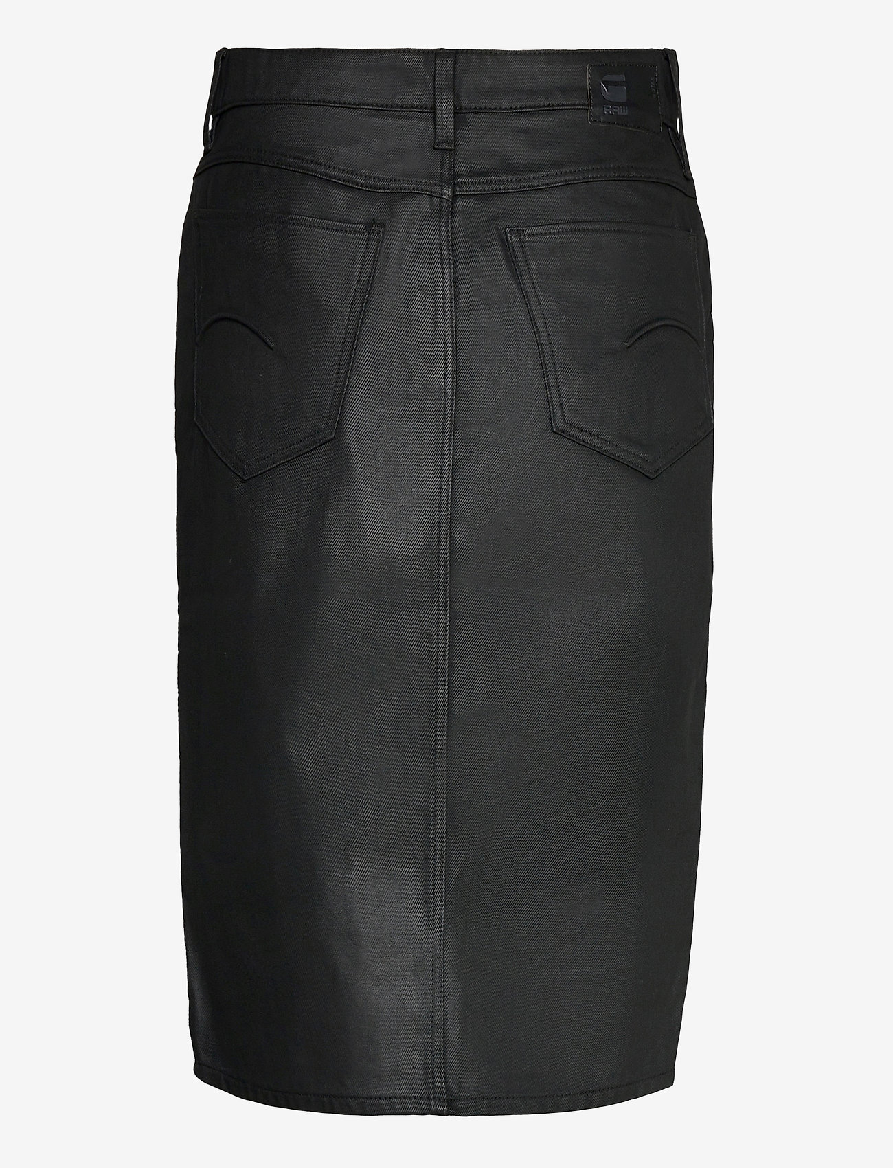 G-star RAW - Noxer Navy Pencil Button skirt - midi rokken - waxed black cobler - 1