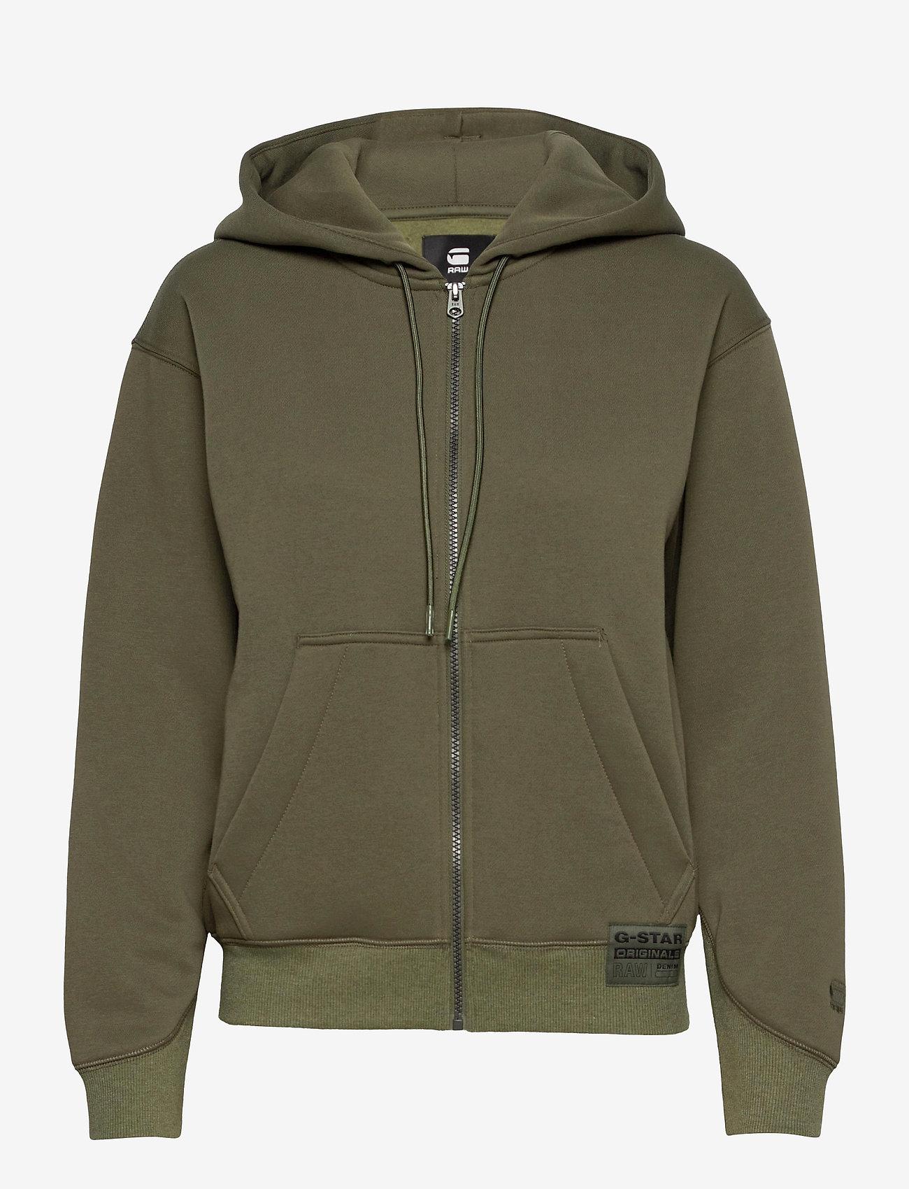 G-star RAW - Premium core hdd zip thru sw wmn l- - hoodies - combat - 0