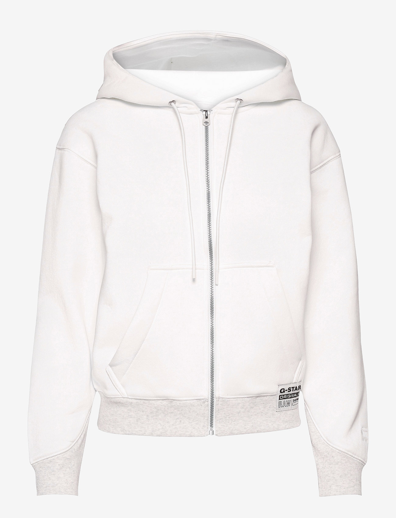 G-star RAW - Premium core hdd zip thru sw wmn l- - hoodies - milk - 0
