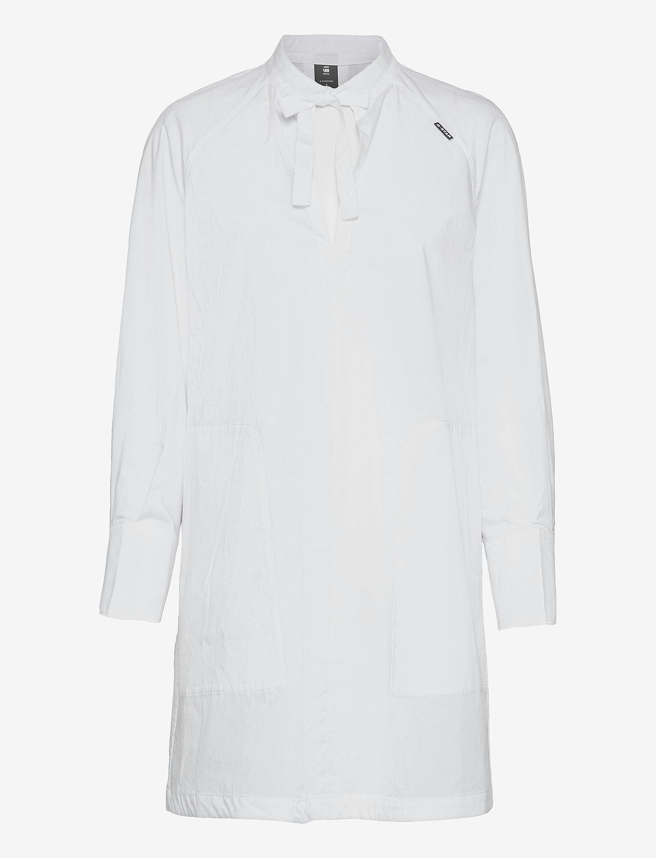 G-star RAW - V-neck tunic dress l\s - zomerjurken - white - 0