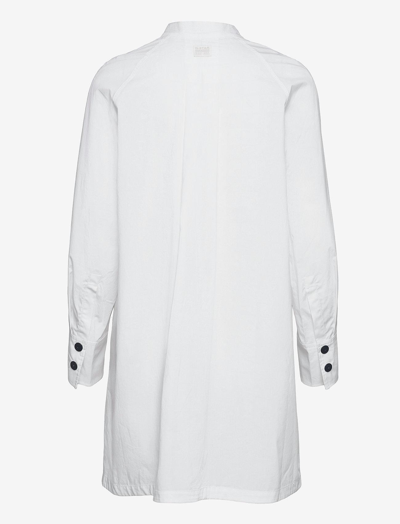 G-star RAW - V-neck tunic dress l\s - zomerjurken - white - 1