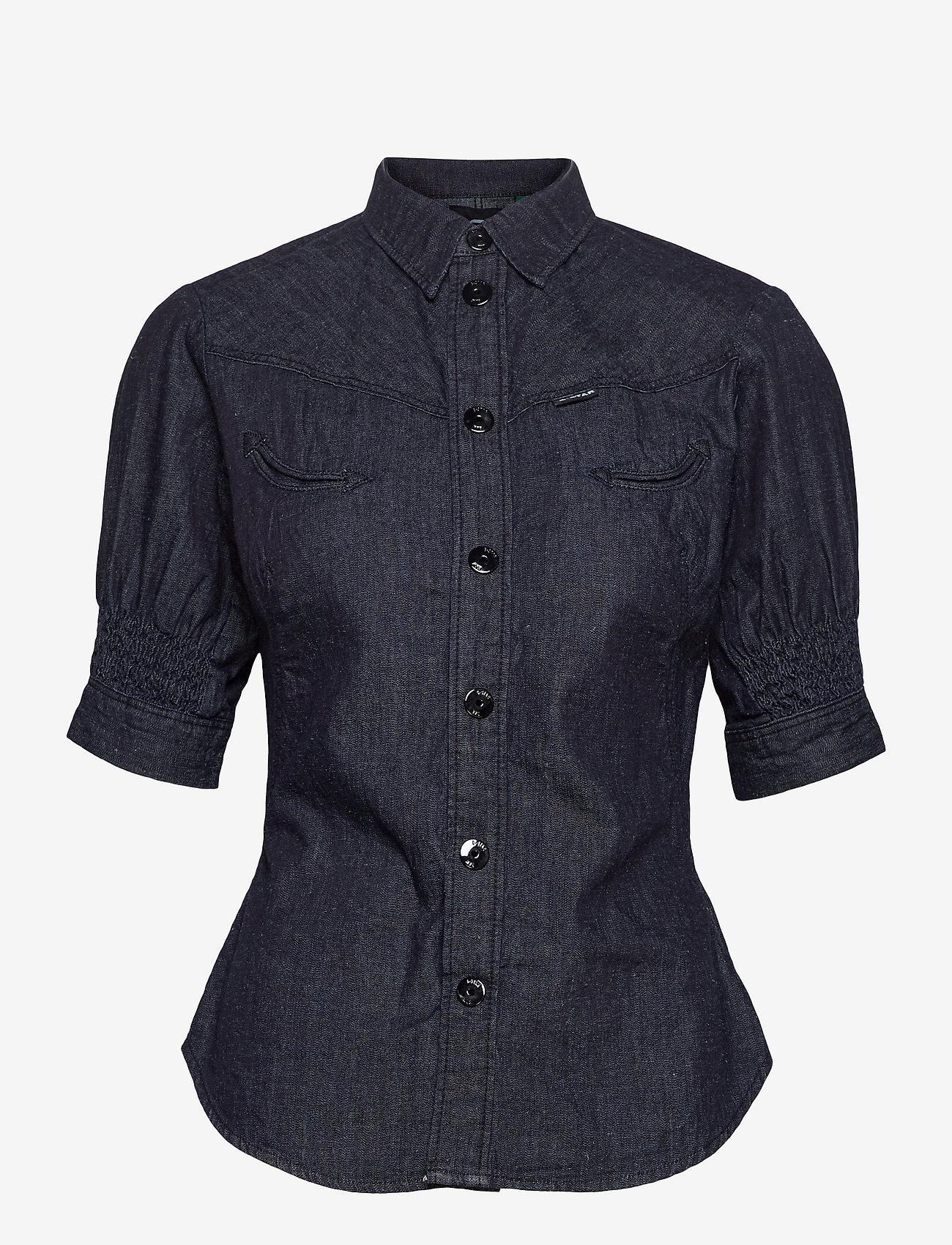 G-star RAW - Smock western kick back shirt wmn s - overhemden met korte mouwen - rinsed - 0