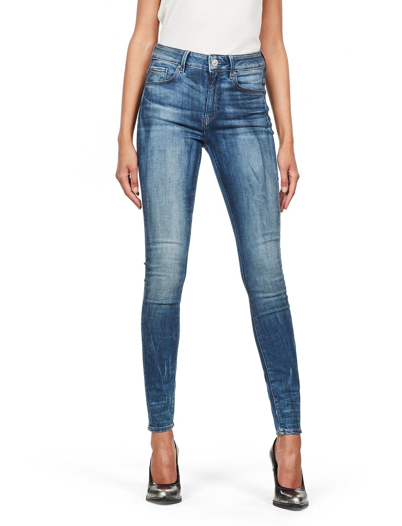 G-star RAW - 3301 High Skinny Wmn - skinny jeans - medium indigo aged - 0
