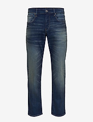 G-star RAW - 3301 Straight - regular jeans - worker blue faded - 0