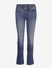 G-star RAW - Midge Mid Straight Wmn - straight jeans - medium indigo aged - 0