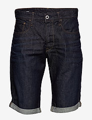 G-star RAW - 3301 1\2 - farkkushortsit - 3d raw denim processed - 0