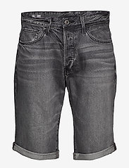 G-star RAW - 3301 1\2 - denim shorts - sun faded black stone - 0