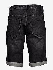 G-star RAW - 3301 1\2 - denim shorts - worn in black stone - 1