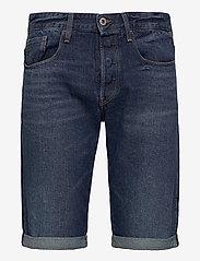 G-star RAW - 3301 1\2 - denim shorts - worn in blue stone - 0