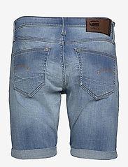 G-star RAW - 3301 Slim short - denim shorts - vintage striking blue - 1