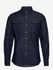 G-star RAW - 3301 slim shirt l\s - peruspaitoja - rinsed - 0