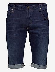 G-star RAW - Arc 3D 1\2 custom - denim shorts - dk aged - 0