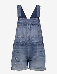 G-star RAW - Faeroes bf Short Overall rp tu Wmn - buksedragter - faded ripped shore - 0