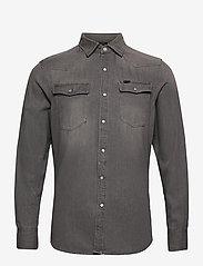 G-star RAW - 3301 slim shirt l\s - peruspaitoja - faded dust grey - 0