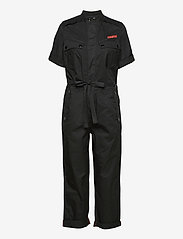 G-star RAW - Field straight jumpsuit wmn s\s - jumpsuits - dk black - 0