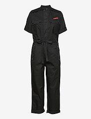 G-star RAW - Field straight jumpsuit wmn s\s - jumpsuits - dk black - 0