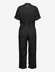G-star RAW - Field straight jumpsuit wmn s\s - jumpsuits - dk black - 1
