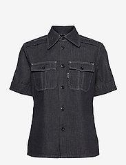 G-star RAW - Officer shirt wmn s\s - overhemden met korte mouwen - rinsed - 0