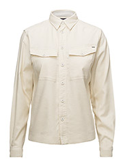 Rovic cropped shirt wmn l - OFF WHITE