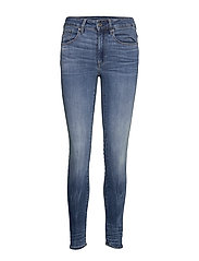 3301 High Skinny Wmn - MEDIUM INDIGO AGED