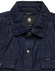 G-star RAW - 3301 slim shirt l\s - peruspaitoja - rinsed - 3