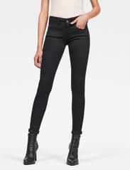 G-star RAW - Lynn Mid Super Skinny Wmn - skinny jeans - pitch black - 0