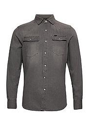 3301 slim shirt l\s - FADED DUST GREY
