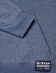 G-star RAW - Premium core hooded sw wmn l\s - hoodies - worn in kobalt htr - 3