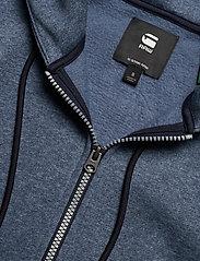 G-star RAW - Premium core hdd zip thru sw wmn l- - hoodies - worn in kobalt htr - 2