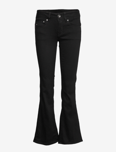 Midge Mid Bootcut Wmn - boot cut jeans - pitch black
