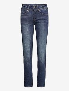 Midge Mid Straight Wmn - straight jeans - dk aged