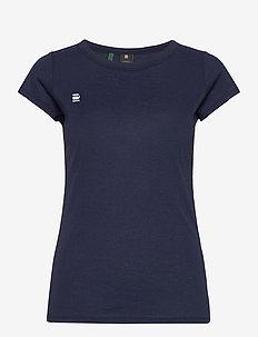 Eyben slim r t wmn s\s - t-shirts - sartho blue