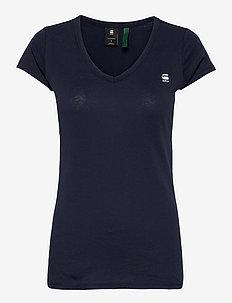 Eyben slim v t wmn s\s - t-shirts - sartho blue