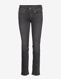 Midge Mid Straight Wmn - straight jeans - dusty grey