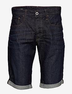 3301 1\2 - denim shorts - 3d raw denim processed