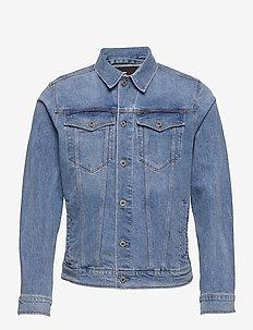 3301 Slim Jkt - denim jackets - sun faded stone