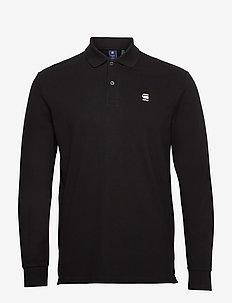 Dunda core polo l\s - long-sleeved polos - dk black