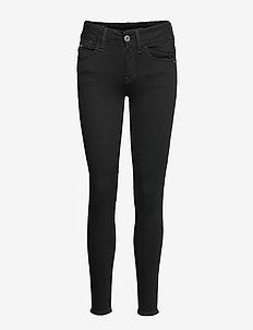 Lynn Mid Super Skinny Wmn - skinny jeans - pitch black