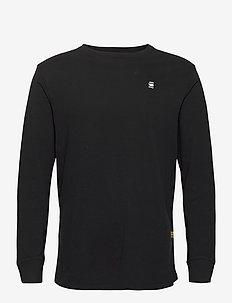 Lash r t l\s - basic t-shirts - dk black