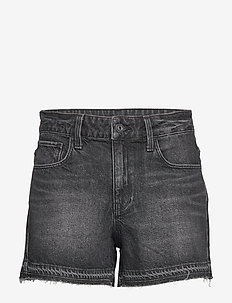 3301 High Boyfriend rp Short Wmn - korte jeansbroeken - worn in black stone