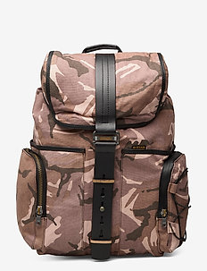 Vaan dast backpack ao - bags - taupe/lt moss ao