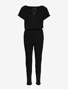 Cocaux r suit wmn s\s - buksedragter - dk black