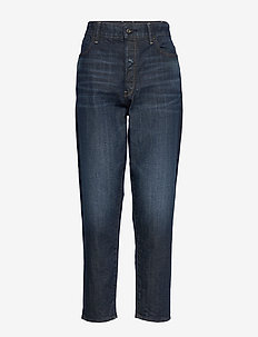 Janeh Ultra High Mom Ankle Wmn C - mor jeans - worn in deep forest