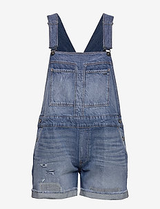 Faeroes bf Short Overall rp tu Wmn - jumpsuits - faded ripped shore