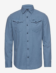 Arc 3d slim shirt l\s - basic shirts - delft